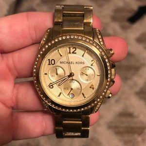 Michael Kors Gold Watch - WOMENS Small Wrist
